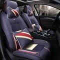 3D Cubierta de Asiento de Coche Cojín de Fibra de cáñamo diseño de Coches Para Ford Edge Escapar Focus Fiesta Mondeo Ecosport Kuga Fusión Explorador