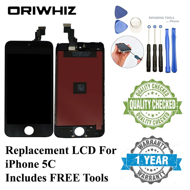 ORIWHIZ LCD For iPhone 5C 5S 6S 8 Display LCD Touch Screen With Digitizer Replacement Assebmbly Frame For iPhone 5S LCD image