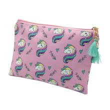 M460 2018 Cute Cartoon Women Cloth Bag Fashion Creative Unicorn Design Hand Bag Student Girl Women Gift Wholesale
