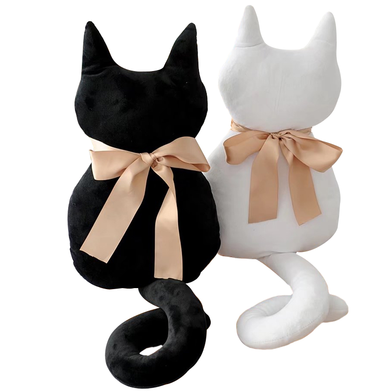 1pc 45cm Fashion Back Shadow Cat Seat Sofa Pillow Cushion Cute Plush Animal Stuffed Cartoon Pillow Great Toys for Gift stuffed animal 44 cm plush standing cow toy simulation dairy cattle doll great gift w501