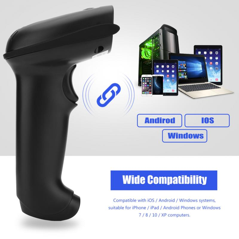 Barcode Scanner with 1D / 2D USB Handheld Wireless Bluetooth for iOS Android Windows ipda018 android mobile data collector pda terminal 1d barcode reader wifi bluetooth for inventory management warehouse system