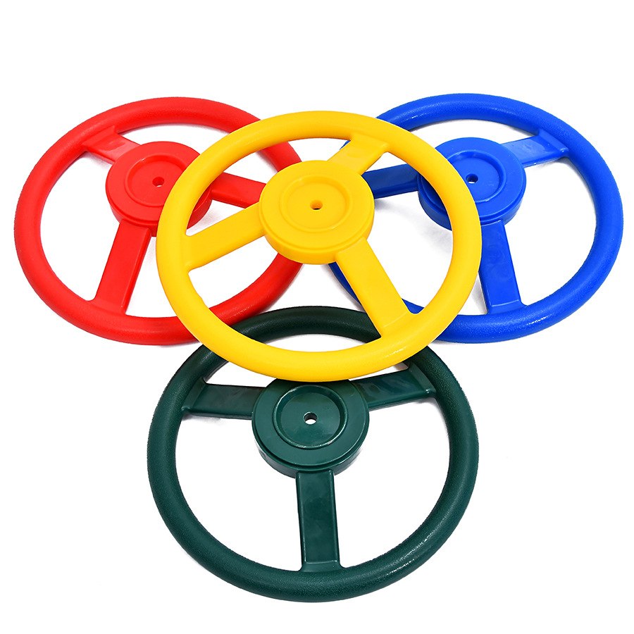 Outdoor Amusement Parts Racing Playground Plastic Dia Steering Wheel Toy Small Cabin Accessories Outdoor Games Toys Swing