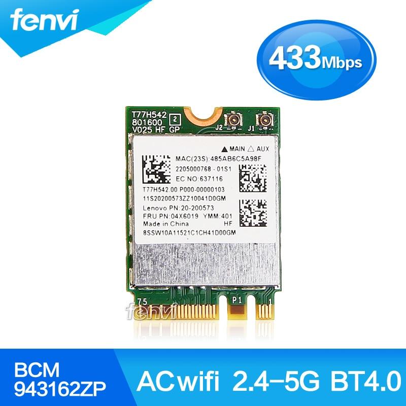 Broadcom BCM943162ZP Dual Band Wireless AC 2 4G 5G Wifi Bluetooth 4 0 NGFF 802 11ac
