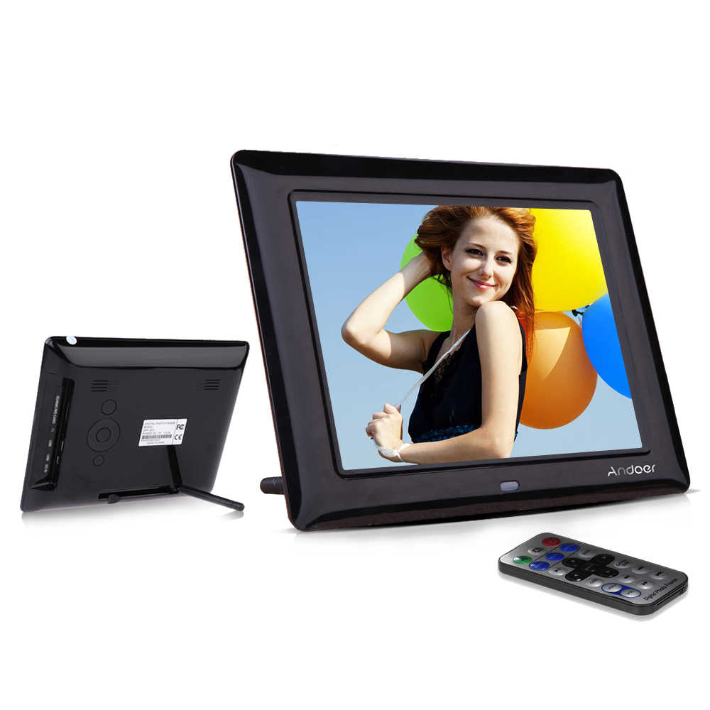 Andoer 8''  HD TFT-LCD Digital Photo Frame High Quality Digital Photo Clock MP3 MP4 Movie Player Digital Frame w/ Remote Desktop