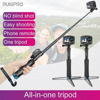 Handheld Tripod Mount Selfie Stick Extendable Monopod for DJI OSMO action Gopro Hero8 7 6 5 4 3+ SJCAM Xiaomi YI 4k Sport Camera for dji osmo mobile 2 handheld gimbal adapter osmo mobile 1 mount holder action camera bracket 3d print for gopro hero 6 5 4 3
