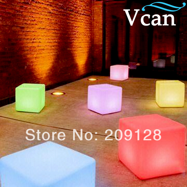LED Waterproof Colorful Plastic Cube  30*30*30cm  V C-A300 for bars 30 3000r