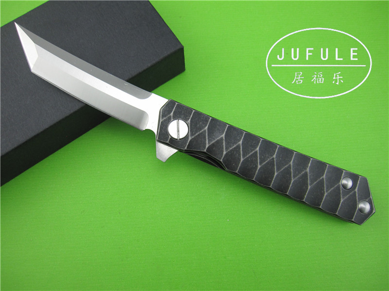 JUFULE The new Samurai font b knife b font titanium alloy bearing D2 multifunctional bearing system