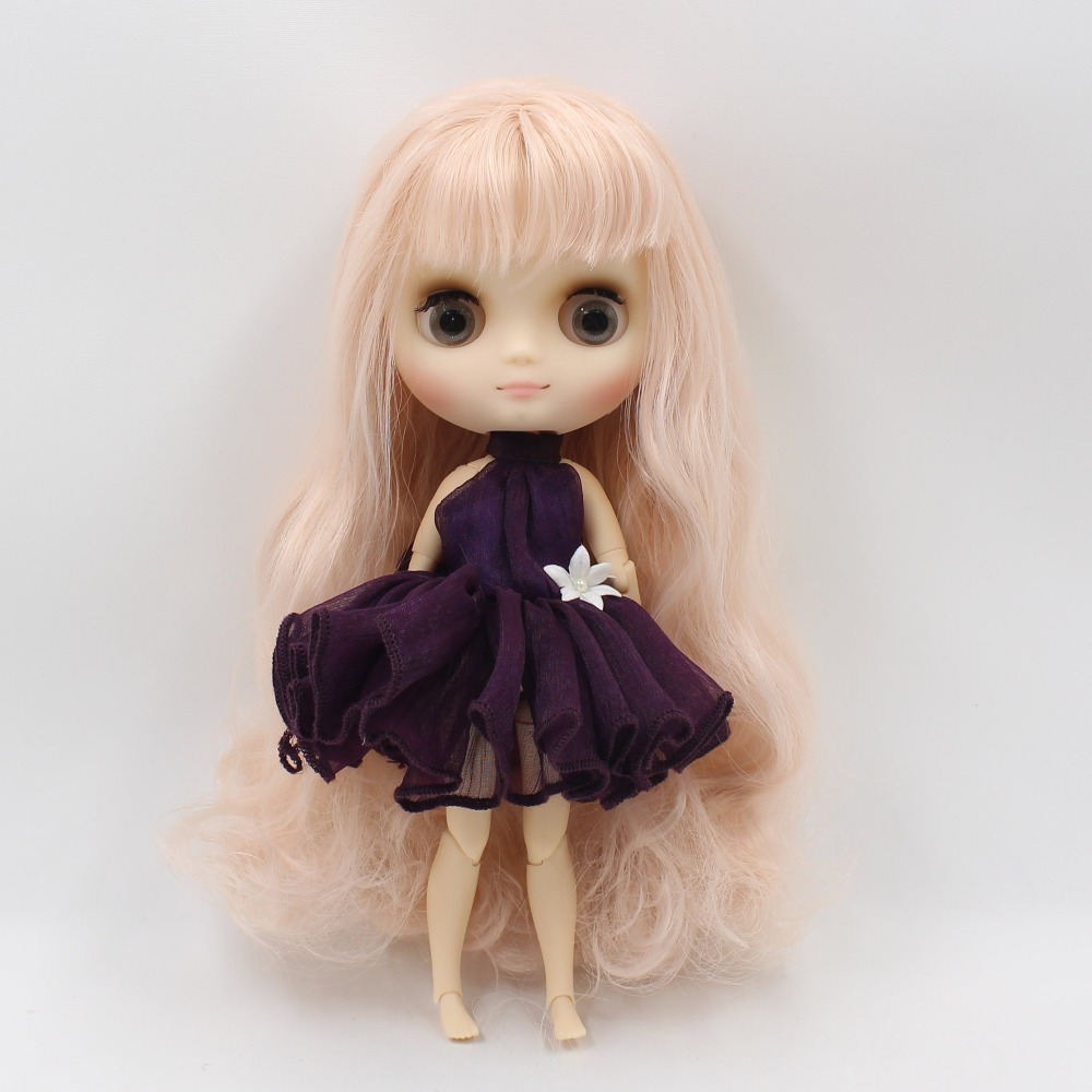 middie blyth doll 1/8 20cm mango hair with bangs/fringes