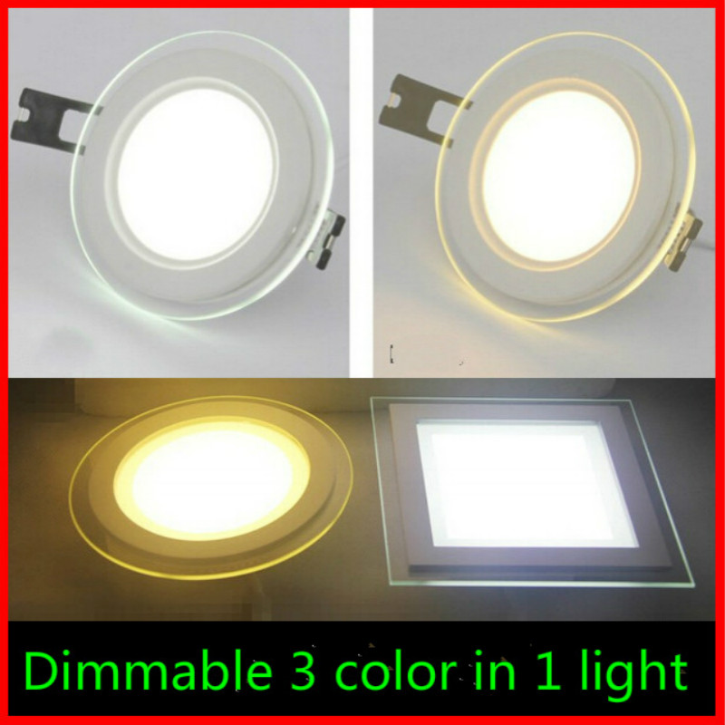 Warm Natural Cool White 3 Color Temperature In 1 Light Led Downlight 2 4g Remote Dimmable Ceiling Spot Light Panel For Home Lamp Ceiling Spot Color Temperaturelight Panel Aliexpress
