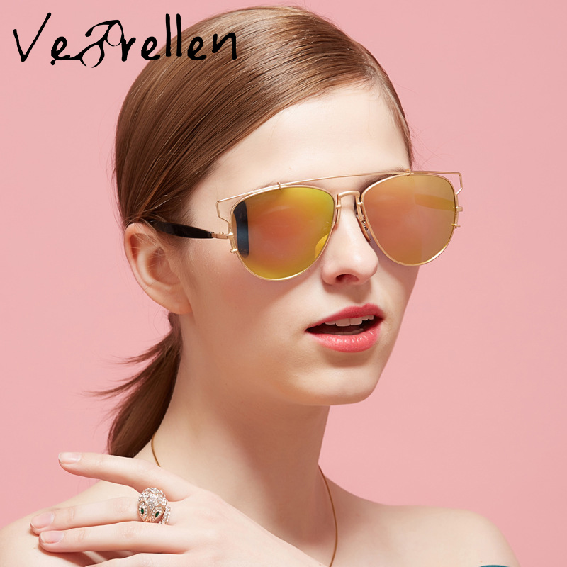 VeBrellen font b Fashion b font Women Cat Eye Sunglasses Classic Brand Designer font b Polarized
