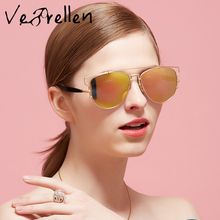 VeBrellen Fashion Women Cat Eye Sunglasses Classic Brand Designer Polarized Sunglasses Coating Mirror Lens VJ144