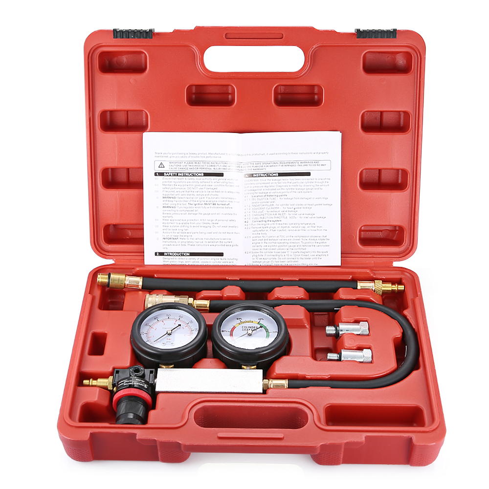 Автомобильный цилиндр утечки тестер метр комплект диагностический тестер ремонт автомобиля инструмент для Авто внутренние проблемы двига...