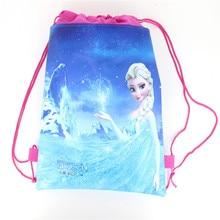 Lot Disney Theme Freezing Anna Elsa Snow Queen Movie Frozen Bag Non-woven  Drawstring Bags