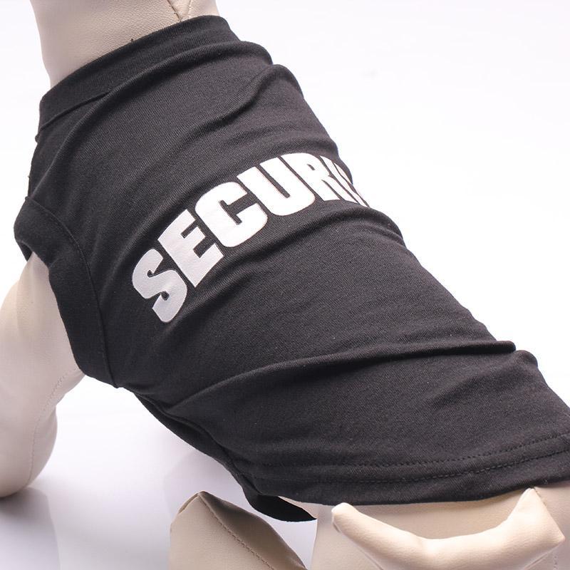 Cat Dog Clothes Black Security Dog Vest Summer Small Pets