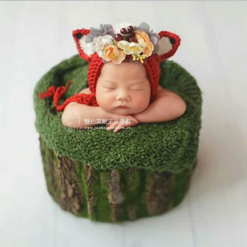 Newborn Baby Photography Props Bark Bucket for Baby Boy Girl Photo Shoot Studio Props Basket bebe fotografia Accessories