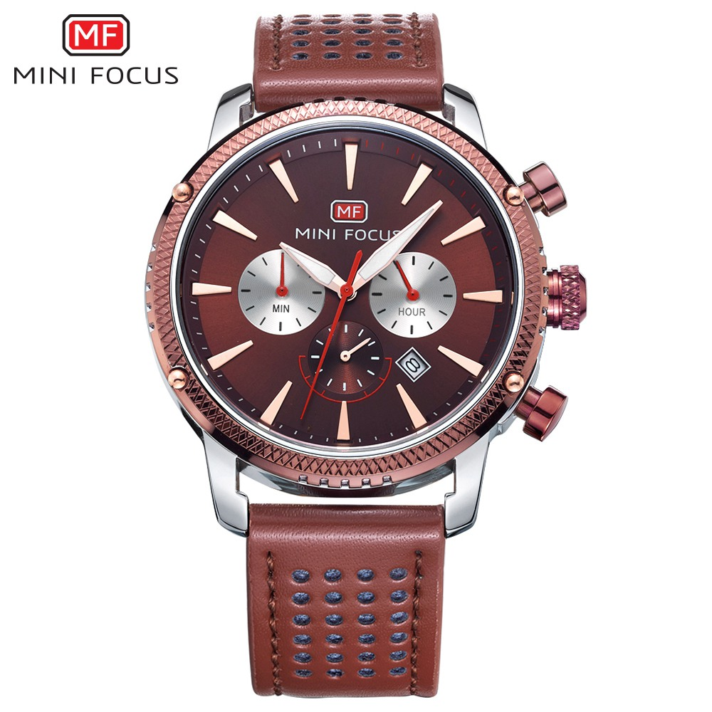 MINIFOCUS Top Sale Fashion 2018 Brand Quartz Wrist Watch Men Watches Famous Male Multifunction Clock Montre Relogio Masculino fashion male watches men top famous brand gold wrist watch leather band quartz casual big dial clock relogio masculino hodinky36