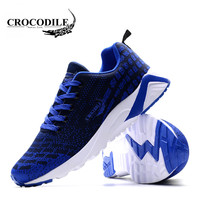 CROCODILE Sports Shoes Mesh Sneakers Cheap Top Quality Running Shoes For Men Wholesale Soft Lining Breathable Air Cushion Shoes