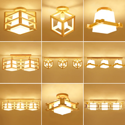 Japoński styl drewna osobowości doprowadziły sufitu światła plafond lampa dla domu pokój dzienny światła sufitowa oprawa oświetleniowa lampy kuchenne