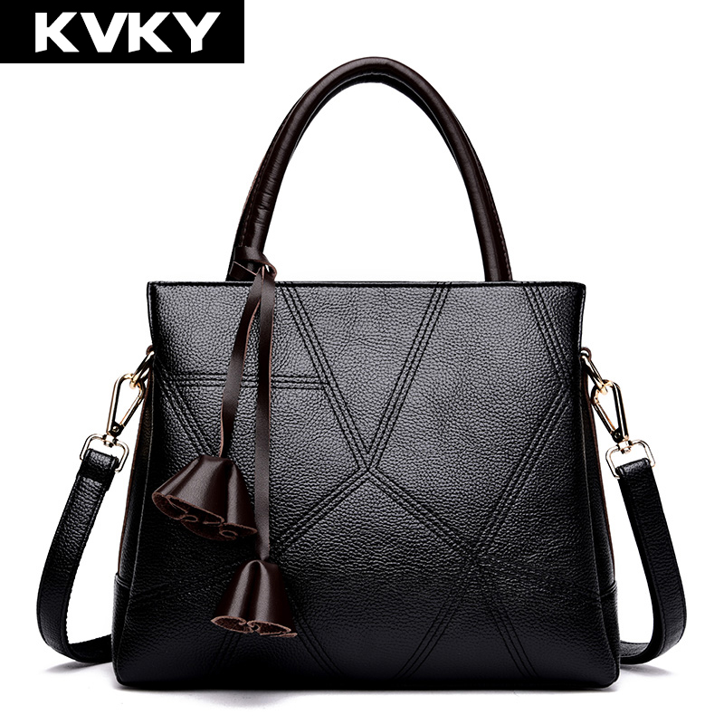 KVKY Women PU Leather Handbags High Quality Patchwork Shoulder CrossBody Bag Designer Female Messenger Bag Casual Bolsa Feminina longmiao brand designer high quality women shoulder bag casual pu leather female big tote bag ladies handbags bolsa feminina page 8