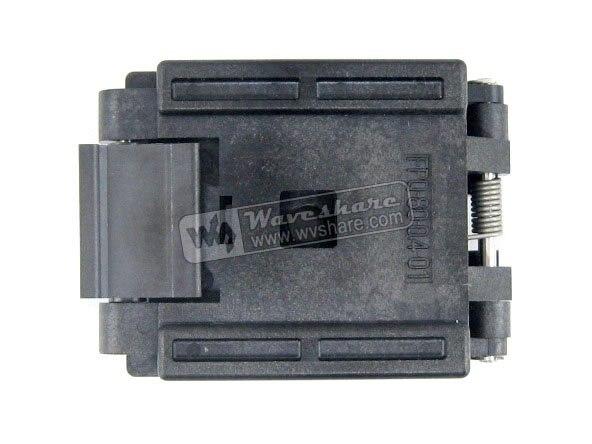 все цены на QFP80 TQFP80 LQFP80 PQFP80 FPQ-80-0.4-01 Enplas QFP IC Test Burn-In Socket 0.4mm Pitch онлайн