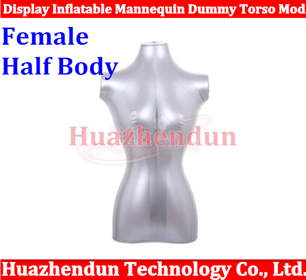 2pcs New Female /woman Half Body Top Shirt Display Inflatable Mannequin Dummy Torso Model Free shipping new 2pcs female right left vivid foot mannequin jewerly display model art sketch