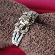 Новое поступление, обручальное кольцо, полукрепление, вымощенные настройки, 0.5CT, Изящные Ювелирные изделия с бриллиантами, 14 к, белое золото, блестящее кольцо 585