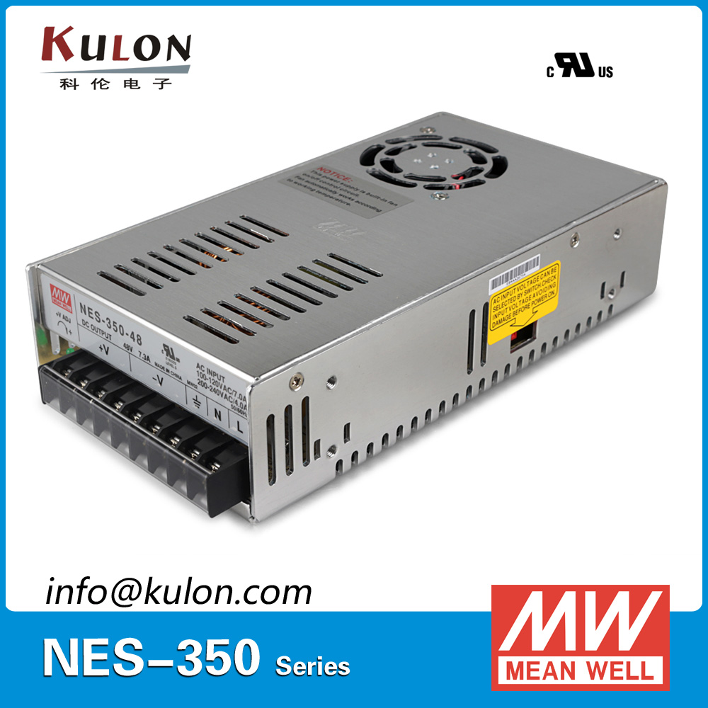 Original Meanwell NES-350-48 AC to DC single output 350W 7.3A 48V Mean well Power Supply NES-350 meanwell 5v 130w ul certificated nes series switching power supply 85 264v ac to 5v dc
