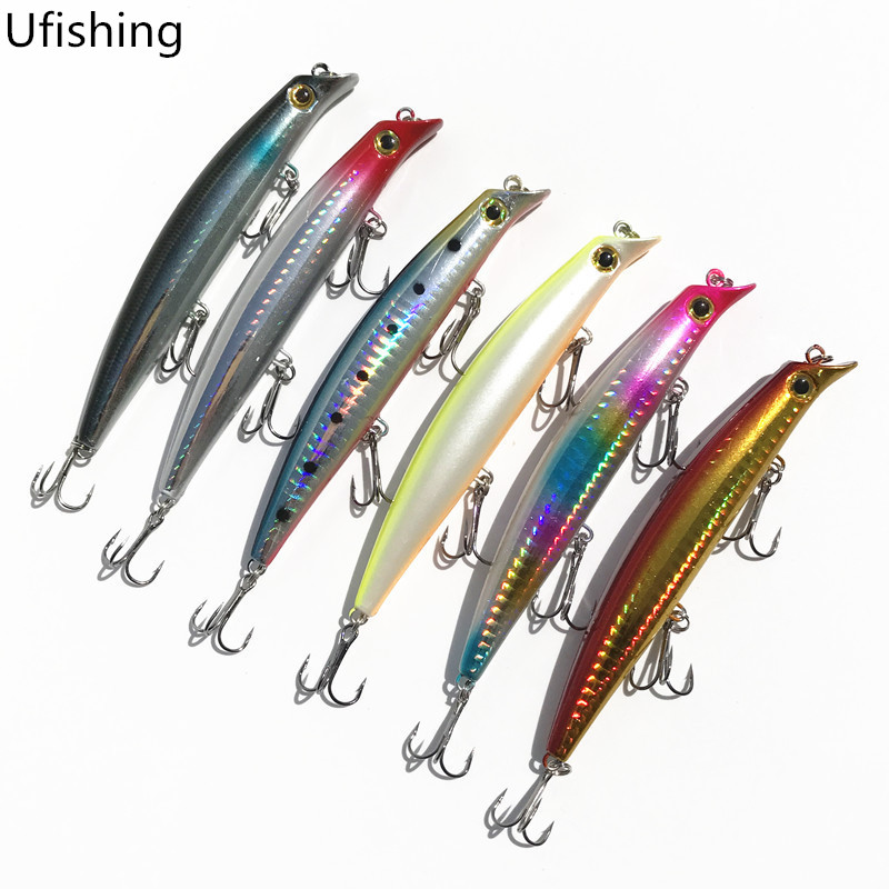 Ufishing 2019 Fishing Minnow Lures 12cm 14g Hard Artificial Bait Hot Painted Carp Bait New Fishing Tackle 1 Pcs Lot in Fishing Lures from Sports Entertainment