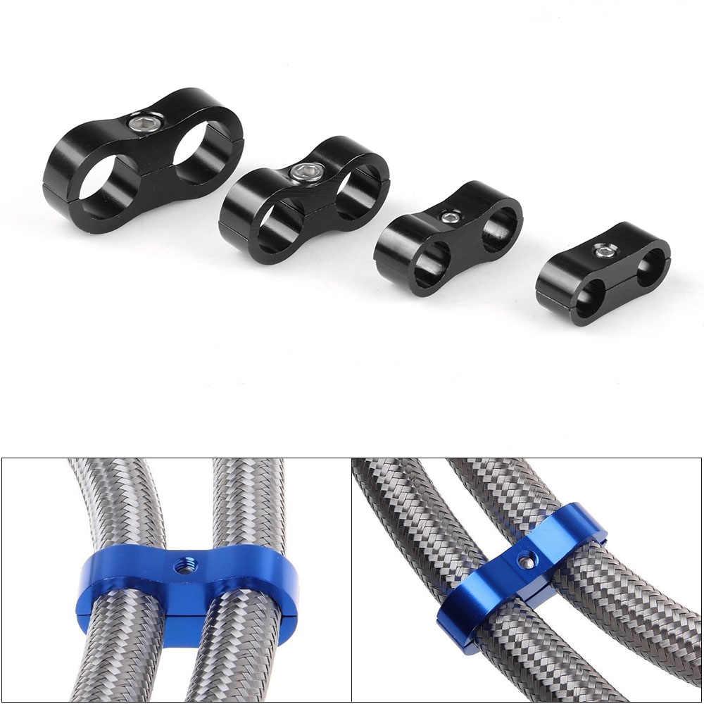 Wąż gumowy z oplotem linia zacisk aluminium anodowane linii Separator Separator Separator zacisk zestaw AN4 AN6 AN8 AN10