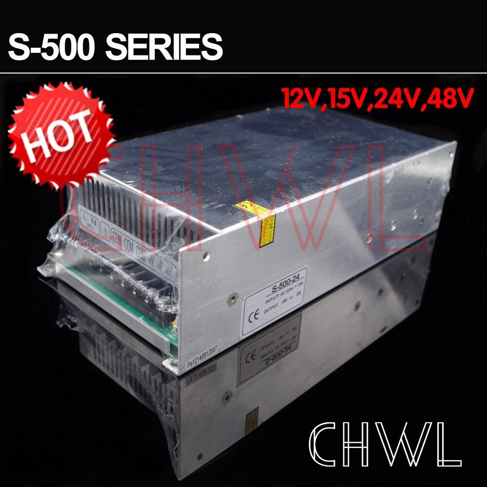 Livraison gratuite haute qualité 24 V 20A 500 W alimentation à découpage pour bande de LED AC 100-240 V entrée - 4