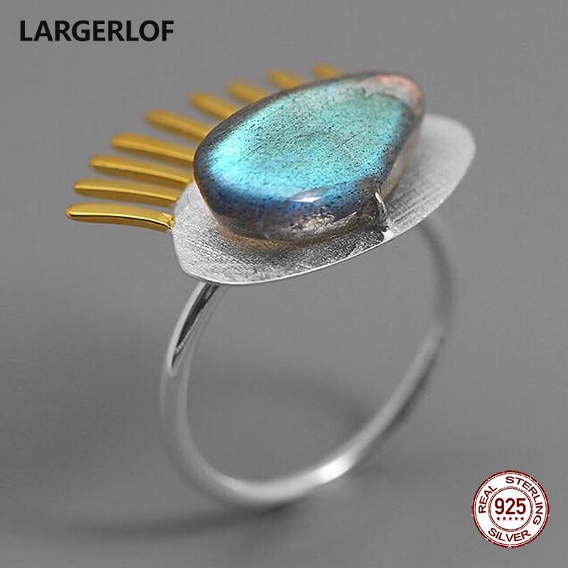 LARGERLOF 925 Silver Ring Labradorite Ring Silver 925 Women Fine Jewelry Silver 925 Jewelry Vintage Ring Sterling Silver RG50159 кольцо oem r111 925 925 amwajeda dymampta ring