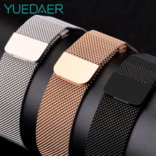 Metal Milanese Loop Band for Xiaomi Huami AMAZFIT Bip strap 20MM 22MM wrist band for Amazfit GTR 47 47MM Strap Stratos 2 2s Pace metal milanese loop band for xiaomi huami amazfit bip strap 20mm 22mm wrist band for amazfit gtr 47 47mm strap stratos 2 2s pace