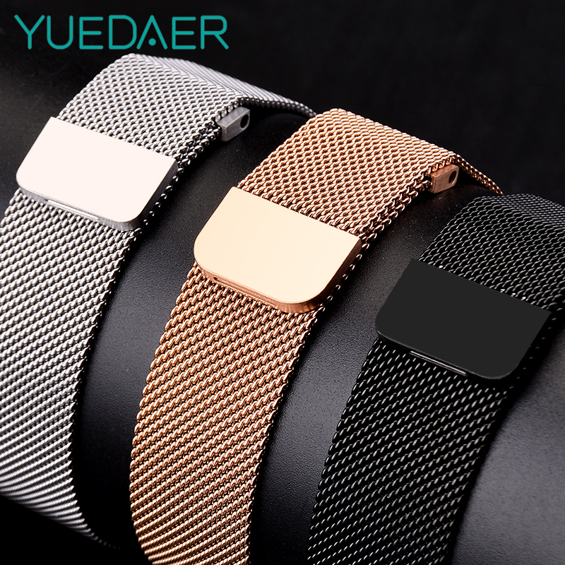 Metal Milanese Loop Band for Xiaomi Huami AMAZFIT Bip strap 20MM 22MM wrist band belt for Samsung Gear S3 Classic Frontier Strap