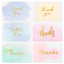 Partykindom 48PCS Birthday Thank You Greeting Cards With 48PCS Envelopes Bronzing Greeting Invitation Card For Thanksgiving цена
