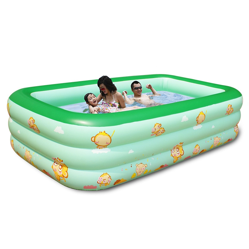 3m Large Pool 3 Layer Children Family Portable Splashing Sand Baby Tub Inflatable Adult Swimming