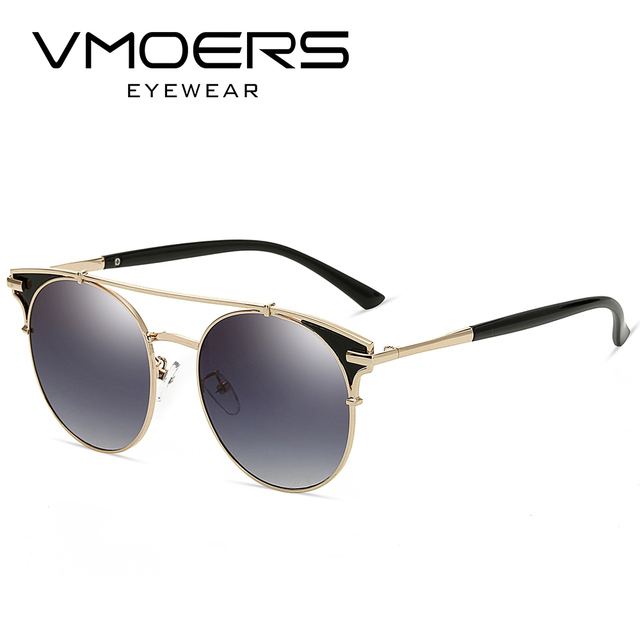a26703faa6 VMOERS Retro Aviator Round Sunglasses Women Mirror Gradient UV400 Sun  Glasses For Women Vintage Brand Shades
