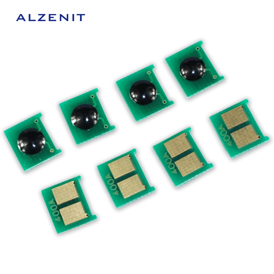 4Pcs GZLSPART For <font><b>HP</b></font> 400 401 <font><b>402</b></font> 403 500 M551 507 OEM New Drum Count Chip Four Color Printer Parts image