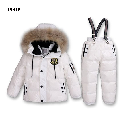 2018 Children girl boy 2 4 6 8 winter fur hooded down ski Snow suit coat Jacket+overalls clothes baby kids boy girl set outwear girl kids fashion pu leather jacket coat 2018 new winter autumn thick rabbit s hair hooded big baby boy girl motorcycle outwear