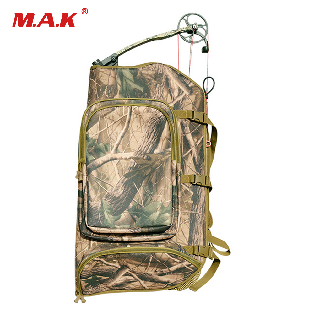 High Quality Top Opening Universal Compound Bow Bag 600D Nylon Camouflage Printing Backpack For Archery Hunting Shooting
