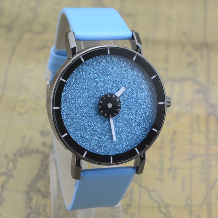 2018 Fashion Cute Moon Stars Design Wrist WatchPu Leather Women Man Unsex Romantic Starry Sky Dial Quartz Relogio Feminino