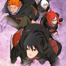 Naruto Akatsuki Sasuke Cosplay Cloak