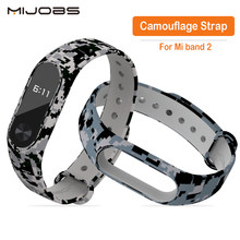 Mijobs Camouflage wristbands For Xiaomi Mi Band 2 Smart Bracelet Strap Replace Belt For Miband 2 Silicone Strap For Mi band 2(China)