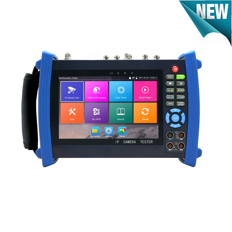 New IP tester 5MP AHD 8MP TVI CVI 1080P HD SDI CVBS CCTV Camera tester with TDR ,Cable tracer, Multi-meter ,Security camera