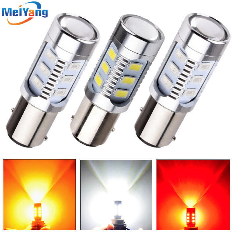 2pcs 1157 BAY15D Bulb Cree led Chips High Power lamp 21/5w led car bulb brake Lights Source parking White Red Yellow 12V