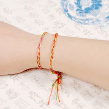Fashion Ethnic Colorful Long Tassel Women Lady Girl DIY Weave Rope Bracelets Multicolored Bracelet Random Color Wholesale(China)