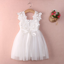 Baby Girls Party Lace Tulle Flower Gown