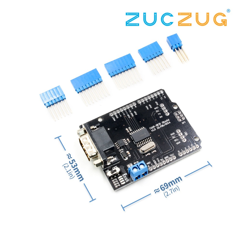1Set MCP2515 Can Bus Shield Board SPI Interface 9 Pins Standard Sub-D Connector Expansion Module DC 5-12V image