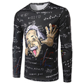 Brand Clothing Physicist Albert Einstein Black 3d T Shirts Long Sleeve O Neck Plus Size Top Tees Vetement Homme Tshirt Homme