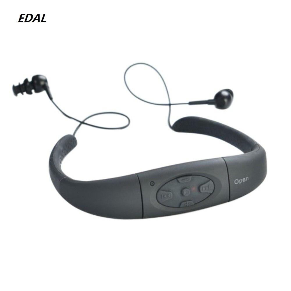 מקצועי Waterproof 8 GB מים שחייה ספורט מוסיקה MP3 נגן סטריאו Neckband אוזניות אודיו אוזניות עם FM לשחייה