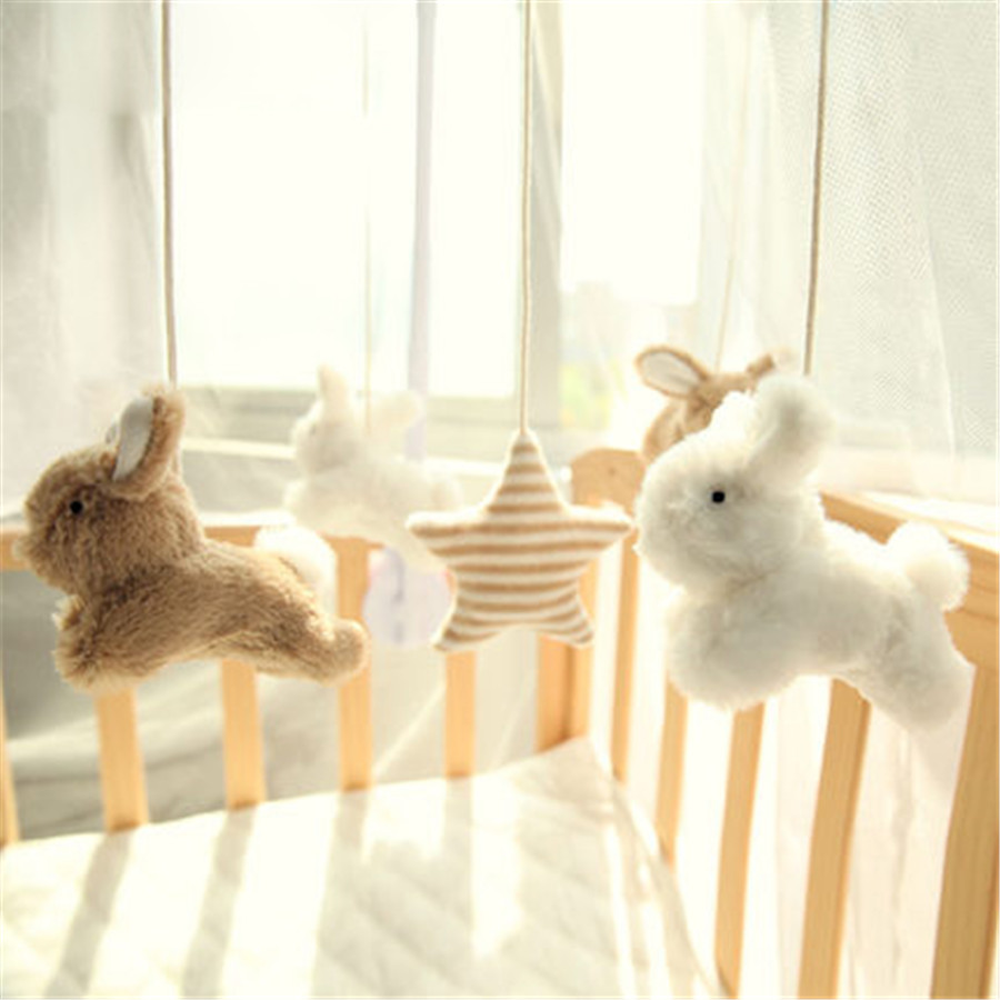 Baby Toys Educational Plastic Rattle 0-12 Months Bed Bell Cloth Animal Rabbit Mobility Sozzy Toy In The Crib Plush soft 404844 матрас konkord classic comfort 120x195x18